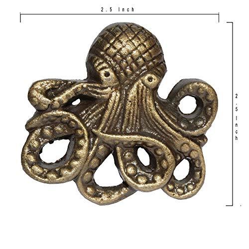 Octopus Cast Iron Door pulls knobs Set of 2 ()