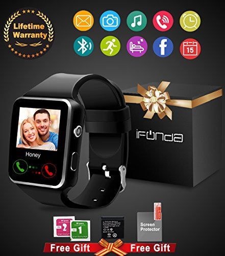 ifunda Smartwatch Bluetooth smart watch for men smartwatch for kids smartwatch for android phones