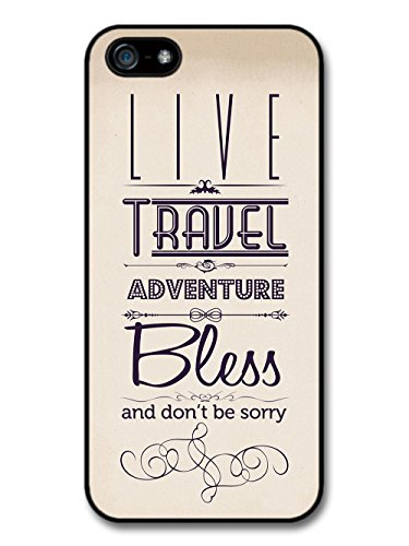 Live Travel Adventure Bless Jack Kerouac Writer Life Inspirational Quote coque pour iPhone 5 5S