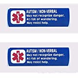 2 Pack Non-Verbal Autism Car Seat Harness - Backpack Strap Medical Alert Cover (Royal Blue)