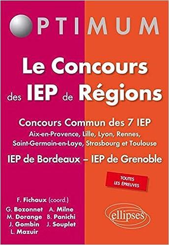 Livre gratuits Le concours des IEP de régions epub pdf