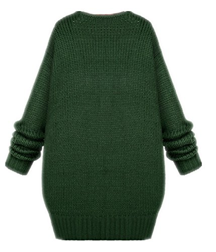 Chandail Couleur Chale chauve Oversize 3 Dames Manches Corenne YOGLY Sweater Kaki Beige Pull Vert Cardigan Manteau Pink souris Tricot BXA0W