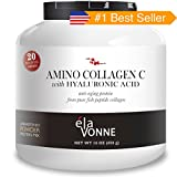 Elavonne Amino Collagen C with Hyaluronic Acid Fish Collagen Peptide Powder, 16 oz