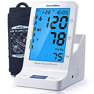 """CHOICEMMED Blood Pressure Monitor with Talking Function - Blood Pressure Cuff with Large Display - 9.4""""-13.4"""" BP Monitor Machine - BP Cuff Storage - Blood Pressure Kit with Batteries Included"""
