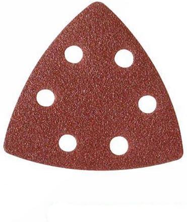 Silverline 826718 10 feuilles abrasives triangulaires auto-agrippantes 90 mm Grain 120