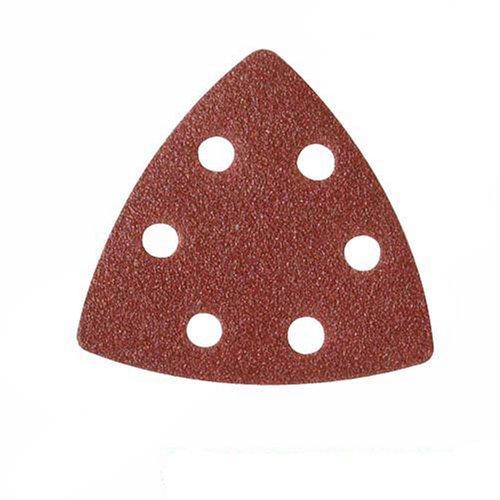 Silverline 383444 - Hojas de lija triangulares autoadherentes 90 mm, 10 pzas (Granos: 4 x 60, 2 x 80, 120, 240)