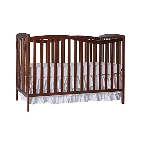 Dream On Me Chelsea 5-in-1 Convertible Crib, Espresso with Full Size Firm Foam Crib and Toddler Bed Mattress, Little Baby, 6″