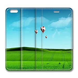 iPhone 6 Plus Case, Fashion Protective PU Leather Flip Case [Stand Feature] Cover Peaceful World for New Apple iPhone 6(5.5 inch) Plus