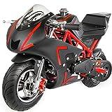 gas bike - 40CC 4-Stroke Gas Power Mini Pocket Motorcycle Ride-on, Red/Black, EPA Certificated