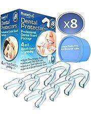 Runesol Bite dentale notturno della bocca per i denti Rettifica x 8 | Tecnologia Easy Mold | Confezione da 6 in 3 formati Bocche di bocca per il byte bruxismo la rettifica dei denti, TMJ, Bruxismo