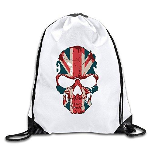 MaNeg British Flag Skull Drawstring Backpack&Travel - Uk Prada Bag