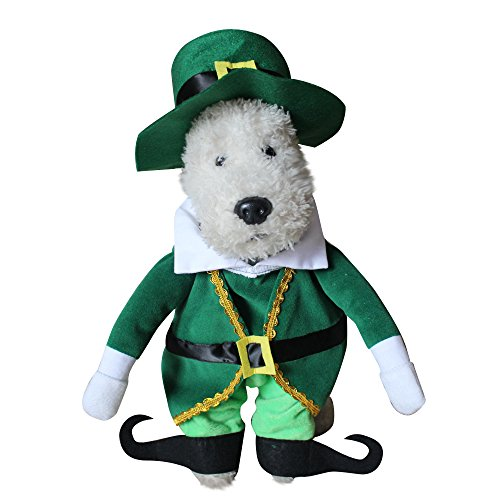 [LXLP Dog Costume for Small Medium Dogs Cats Super Funny Crazy Guitarist Style Pet Clothes Best for Weekend Parties, Birthday, Halloween, Christmas (Christmas prince, M)] (Making A Prince Charming Costume)