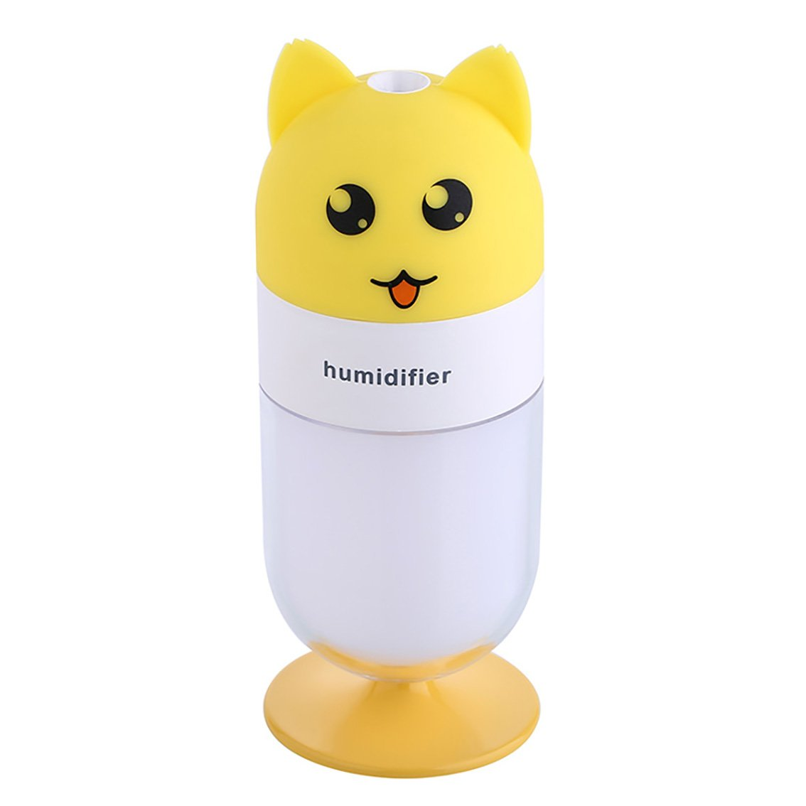 EMEO Air Humidifiers for Desktop, Baby, Bedroom, Car, Home or Office, Powered with Any USB Sources, Portable Compact Humidifying Mist with Auto Shut-off and LED Lights, Mini