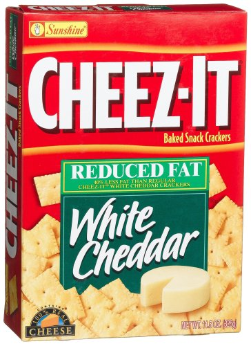 - Cheez-It Baked Snack Crackers, Reduced Fat White Cheddar, 11.5-Ounce Boxes (Pack of 4)