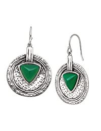Silpada 'Emerald Isle' Sterling Silver and Agate Drop Earrings
