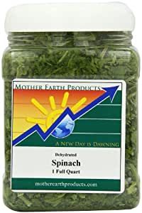 Mother Earth Products Dried Spinach, Quart Jar