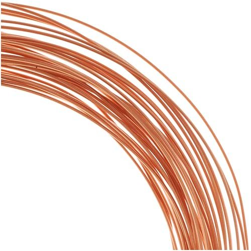 Copper Half Round Craft Bead Wire 21Ga (21Ft) Beadsmith