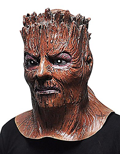 Maze Angry Looking Brown Wooden Demon Full Face