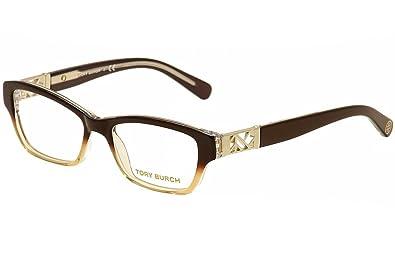 eca6f38ad9 Amazon.com  TORY BURCH Eyeglasses TY 2039 1010 Brown Amber Fade 51MM ...