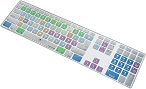 Dogxiong for Apple iMac G6 Keyboard with Numeric Keypad NumberPad Print with: Apple Final Cut Pro X Functional Shortcuts Hot Keys Design Silicone Keyboard Skin Cover [US/EU Layout]