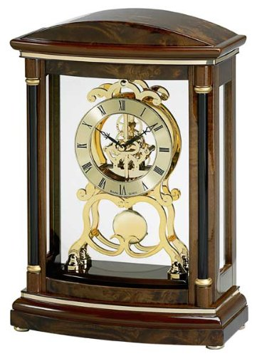 Bulova Valeria Mantel Clock - Skeleton Table Clock