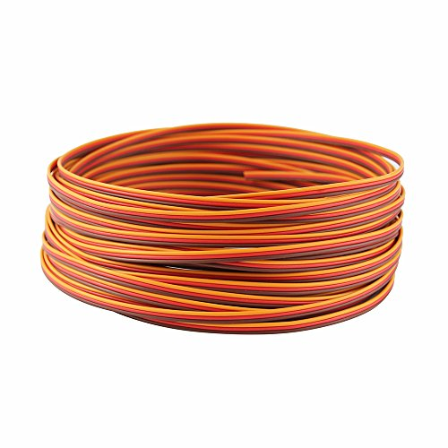 (OliYin 50 feet 22AWG Servo Extension Cable Wire Extended Wiring 60 Cores Cord Lead for RC Helicopter Drone Cars DIY Accessories)