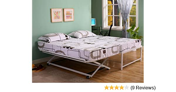Amazoncom Twin Size Steel Day Bed Daybed Frame With Pop Up