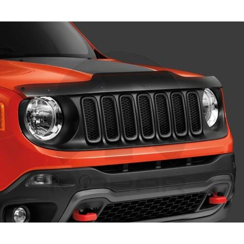Air Deflector Bug (Jeep Renegade Front Air Deflector Bug Shield with Jeep Logo Mopar OEM)