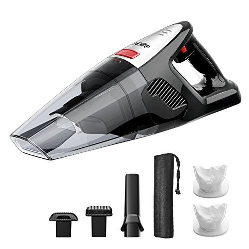 HoLife Handheld Vacuum 7kp Hand Vacuum Cordless 21.9V 100W Cordless Vacuum for Home and Car Cleaning with Cyclone Suction