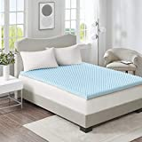 Egg Crate Foam Mattress Cover Sleep Philosophy Flexapedic Gel Memory Foam Mattress Protector Cooling Bed Cover King Blue
