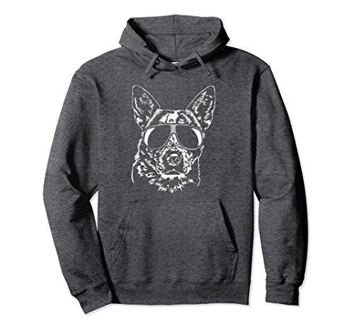 Unisex Funny Blue Heeler Pullover Hoodie dog hund tee Shirt gift XL: Dark Heather ()