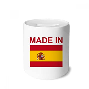 DIYthinker Made in Spain Country Love Money Box Cajas de Ahorro de cerámica Adultos Moneda de