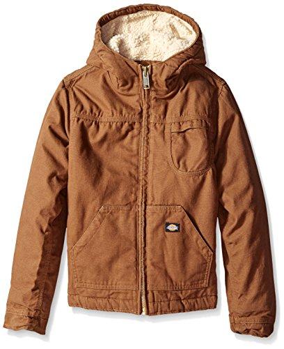 Dickies Duck Jacket (Dickies Big Boys' Sherpa Lined Duck Jacket, Timber, Medium (10/12))