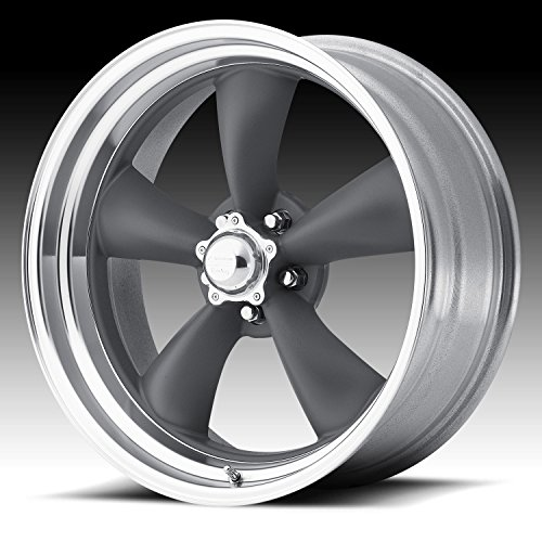 "American Racing VN215 Classic Torq Thrust II 1 Pc Mag Gray Wheel with Center Polished Barrel (20x10""/5x127mm, 6mm offset)"