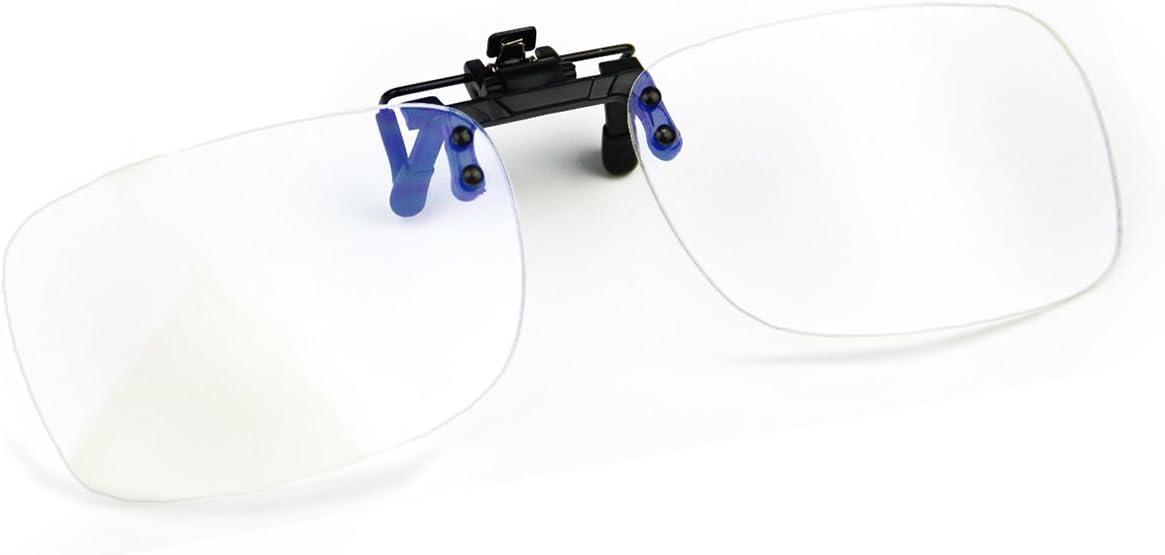 Cyxus [transparente lente filtro de luz azul gafas Clip en la computadora gafas Unisexo(Hombres/Mujeres