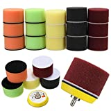 16pcs 2 Inch Sponge Flat Polishing Buff Pad for Car Polisher