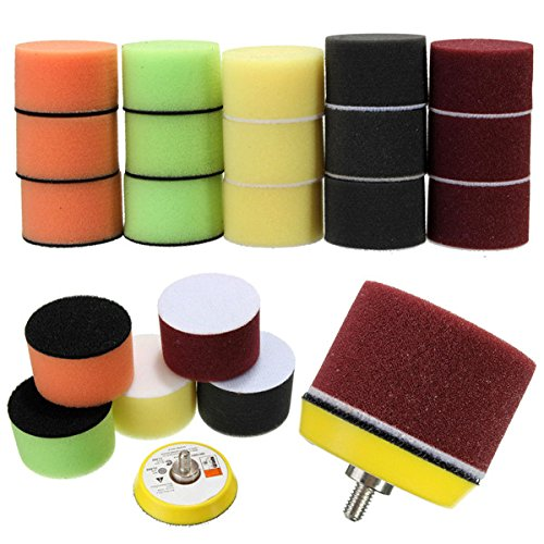16pcs 2 Inch Sponge Flat Polishing Buff Pad for Car Polisher by BephaMart