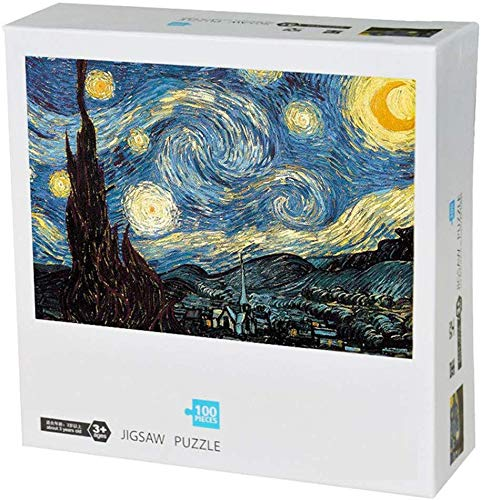 100 Pieces Starry Night Jigsaw Puzzles for Adults Grown Up Puzzles Large Size Toy Games Gift 100 PCS Home Decor 15 x10…