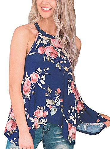 Summer Tank Tops for Women Floral Blouse ()
