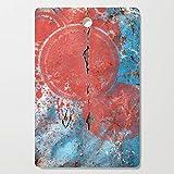 Society6 Wooden Cutting Board, Rectangular, Metal Planet 2 by fernandovieira