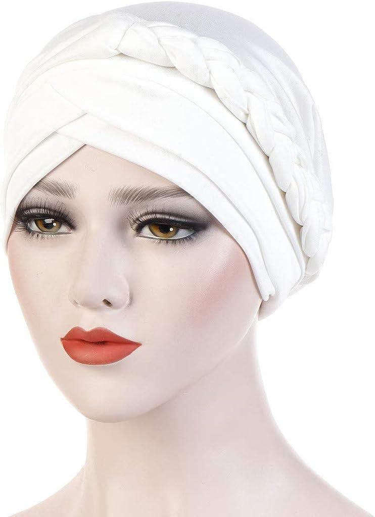 Many Styles LRWEY Assalamu Alaykum Turban Scarf Muslim Head Scarf Cap Turban Headwear Night Sleep Cap Bonnet for Hair Loss Women Sleeping Hat Soft with Adjustable Elastic