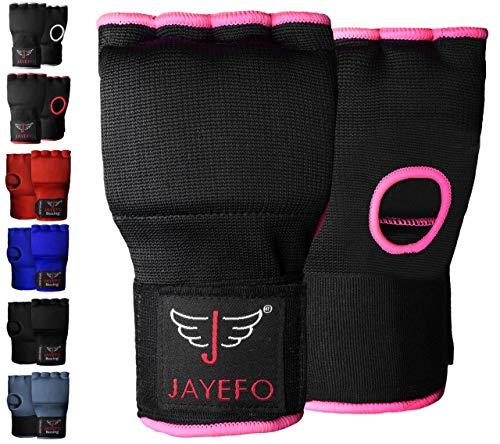 Jayefo Padded Speed Wraps Inner Gloves Training Gel Elastic Hand Wraps for Boxing Gloves Men Women Quick Wraps MMA…