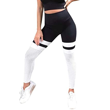 5c6b9c46da31f Lumumi_Pant Women High Waist Elastic Breathable Yoga Pants Tummy Control  Wrokout Running Tight Stretch Yoga Capri