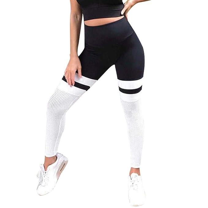 VPASS Mujer Pantalones, Elásticos Patchwork Transpirable ...