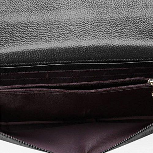 Body véritable cuir Sac Noir luxe Cross SANSJI Weave à Texture Crocodile Gaufré en main main Satchel Purse Sacs de à 1AvXUzqA