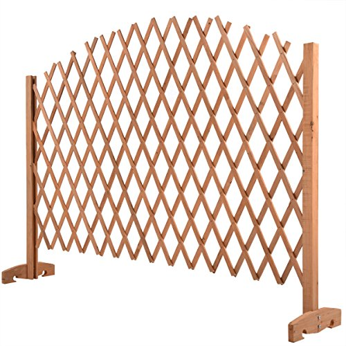 Fence Wooden Expanding Portable Screen Gate Kid Safety Dog Pet Patio Garden Lawn (Patio Gates Fences)