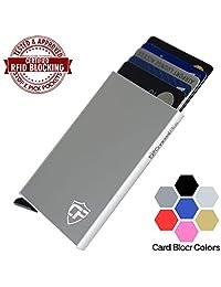 Card Blocr Porta Tarjetas de Crédito RFID I Cartera Minimalista para bloquear el identificador de radiofrecuencia I Cartera de diseño ligero para bolsillo frontal I Porta Tarjetas Anti-RFID