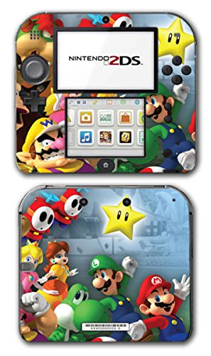Super Mario Party Friends Island Tour Shy Guy Peach Yoshi Luigi Star Daisy Wario Bowser Princess Video Game Vinyl Decal Skin Sticker Cover for Nintendo 2DS System -