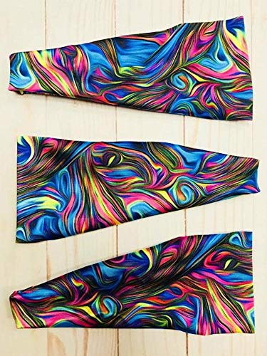 Hippie Runner Whirl Tie Dye Headband. Headbands The #1 Choice for Athletes! No Slip, No Drip Headbands for Running, Walking, Exercise Or Fashion!
