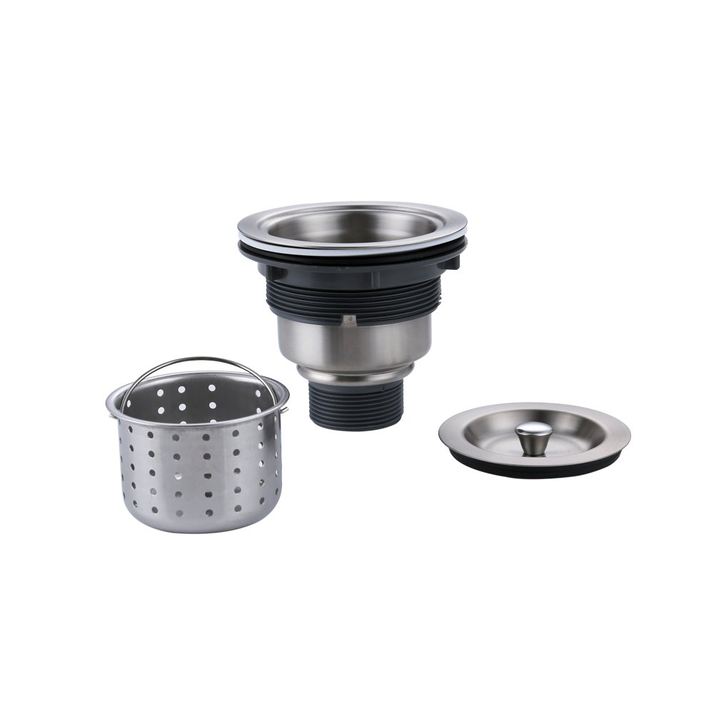 KES Kitchen Sink Drain, Stopper (3-1/2-Inch) with Basket Strainer and Cover Lid Rustfree SUS 304 Stainless Steel and PP, S3001 by Kes